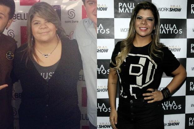 Paula Mattos: antes e depois (Foto: Reprodução-Instagram / Celso Tavares-EGO)
