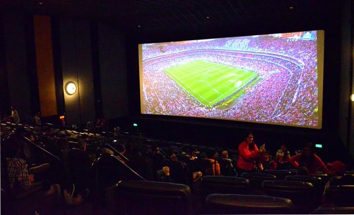 Cinema UEFA Champions League São José dos Campos (Foto: Danilo Sardinha/GloboEsporte.com)