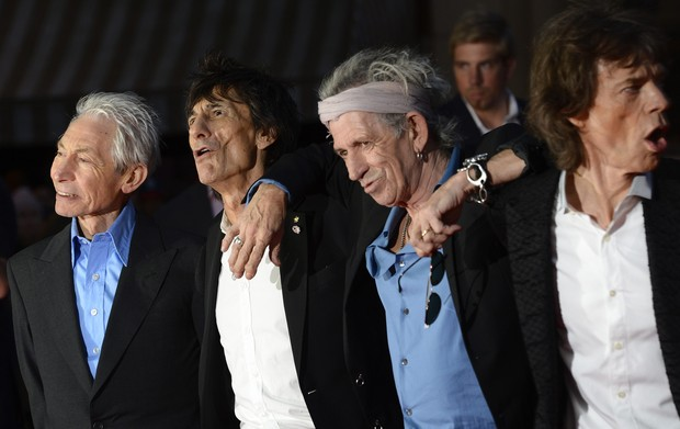 Rolling Stones: Charlie Watts, Ronnie Wood, Keith Richards e Mick Jagger (Foto: Agência Reuters)