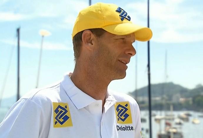 Robert Scheidt, velejador da classe Laser (Foto: Reprodução SporTV)