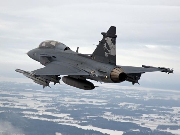 O caça sueco Gripen NG, escolhido pelo Brasil para equipar a FAB (Foto: Divulgação SAAB)