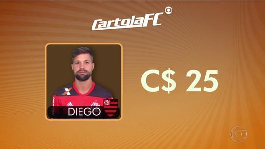 Diego recebe 20% dos votos e será o jogador mais caro do Cartola: C$ 25
