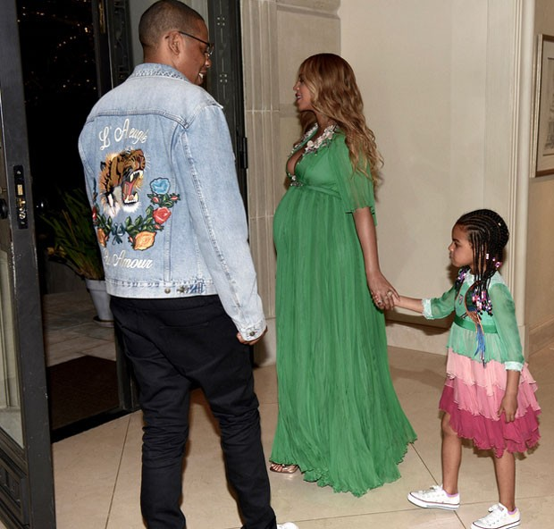Jay Z, Beyoncé e Blue Ivy (Foto: Reprodução)