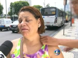 Entrevistada foi assaltada em abril no Centro do Rio; no período, número de roubos saltou 40% (Foto: Reprodução/TV Globo)
