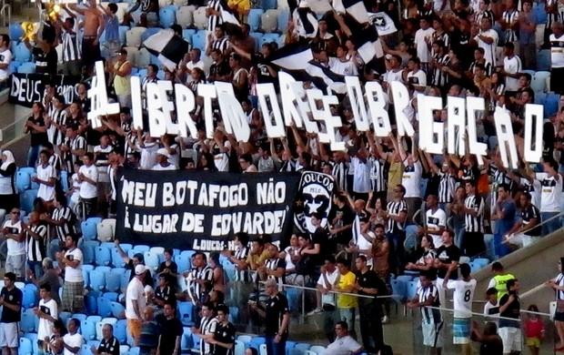 protesto torcida botafogo  (Foto: Thales Soares)