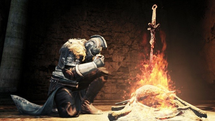 Não se esqueça das fogueiras em Dark Souls 2, elas te ajudarão a viver (Foto: Divulgação)