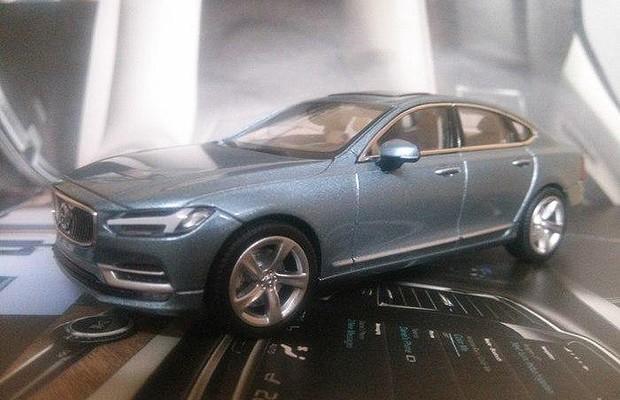 Miniaturas revelam como será novo Volvo S90 (Foto: Divulgação)