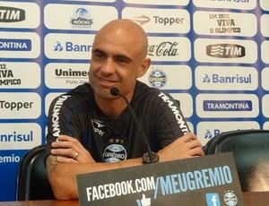 Cris espera colocar o Grêmio na fase de grupos da Libertadores (Foto: Tomás Hammes / GLOBOESPORTE.COM)