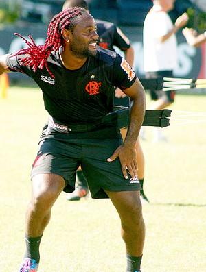 Vagner Love no treino do Flamengo (Foto: Márcia Feitosa / Vipcomm)