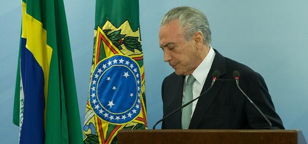 Presidente Michel Temer durante pronunciamento (Foto: Lula Marques/Agência PT)