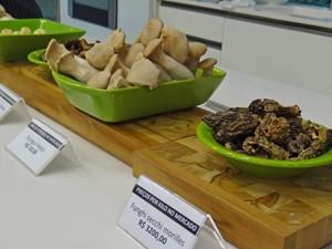 Confira os preços dos cogumelos (Foto: Mais Você / TV Globo)