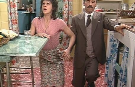 Em 95, Claudia Raia foi a personagem 'Engraçadinha' na fase mais madura. Na foto, com Paulo Betti, que vivia o apaixonado Dr. Odorico na série inspirada na obra de Nelson Rodrigues Divulgação/TV Globo