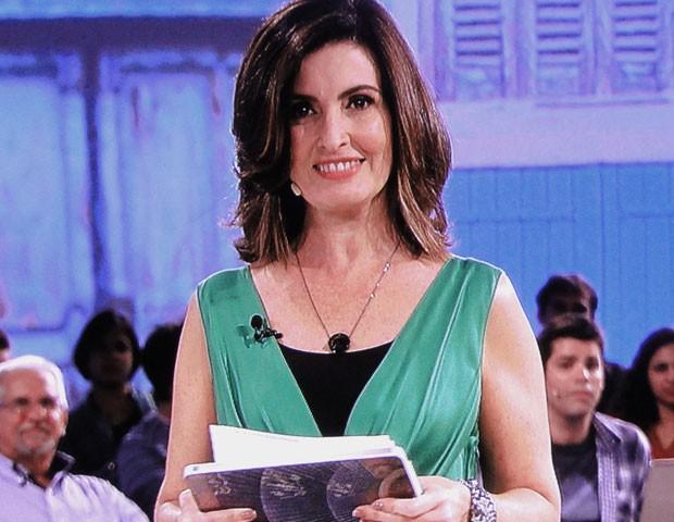 Fátima Bernardes prefere que os filhos assistam ao programa em casa (Foto: Divulgação/ TV Globo)