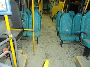 Ônibus foi apedrejado em Criciúma, no bairro sangão (Foto: Divulgação)