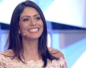 Carol Castro no Domingão do Faustão (Foto: Domingão do Faustão / TV Globo)