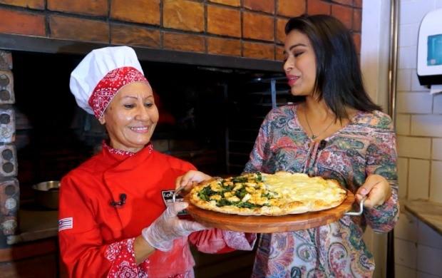 No programa, o passo a passo de uma pizza com um sabor bem regional  (Foto: Amazônia Rural)