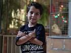 Com apenas sete anos de idade, Luiz Felipe Mello já tem história de guerreiro para contar