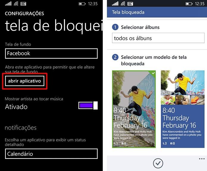 Windows Phone oferece diferente tipos de personalização para fotos do Facebook na tela de bloqueio (Foto: Reprodução/Elson de Souza)