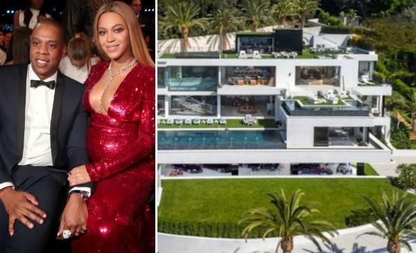 Jay-Z, Beyoncé e a casa comprada pelo casal (Foto: Getty Images/Divulgação)