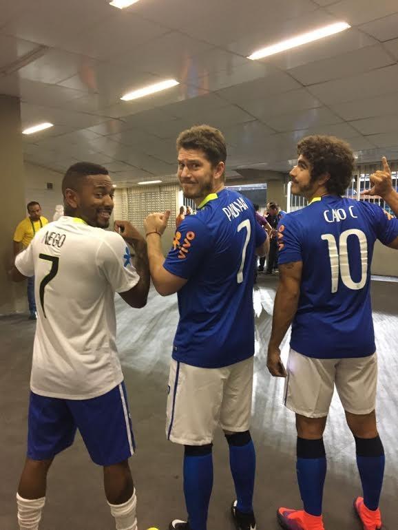 Nego do Borel, Caio Padan e Caio Castro (Foto: Divulgação)