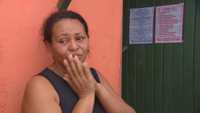 mãe torcedor morte arruda (Foto: Reprodução / TV Globo)