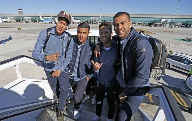 Neymar e Daniel Alves e Rafinha viagem a San Sebastian