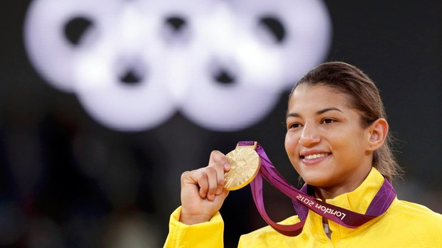 judô Sarah Menezes final olímpica medalha de ouro (Foto: Agência Reuters)