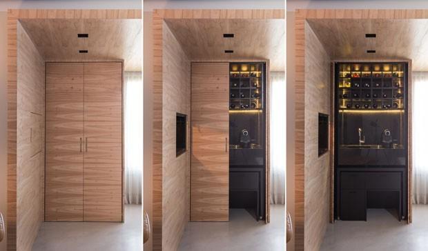 Marcenaria inteligente: 10 ideias de portas que escondem e revelam (Foto: Divulgação)