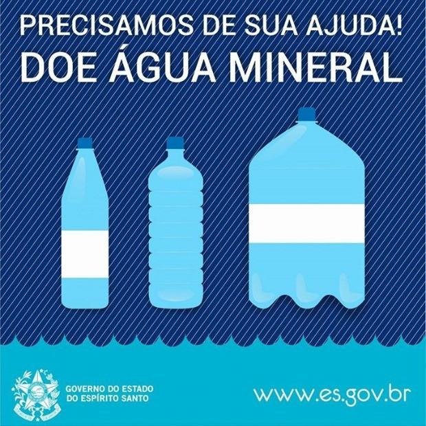 Governo do ES pede doação de água para cidades afetadas por lama (Foto: Divulgação/Governo do ES)