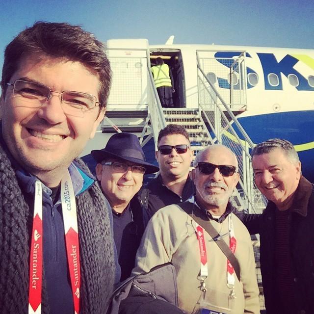 Galvão posta no Instagram após chegarem a Temuco