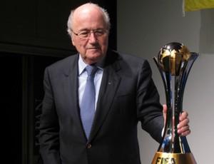 Joseph Blatter, em Tóquio (Foto: Leandro Canônico / Globoesporte.com)