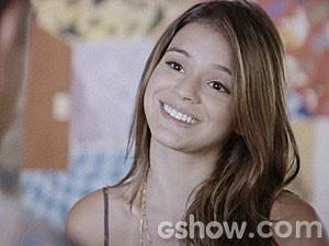 Luiza ressalta o talento do pai para as artes (Foto: Em Família/TV Globo)