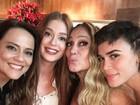 Marina Ruy Barbosa curte festa com Susana Vieira