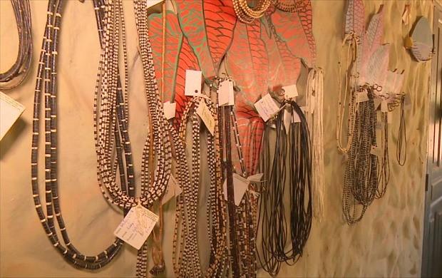 Índios são cadastrados como artesãos em RO (Foto: Bom Dia Amazônia)