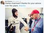"""Rosberg encerra polêmica com Lauda em post: """"Obrigado pelos conselhos"""""""
