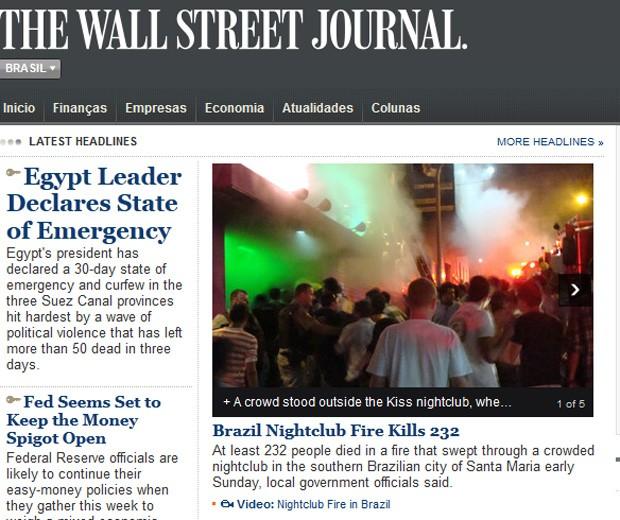 Foto na capa do periódico destaca que casa estava lotada no momento do acidente (Foto: Reprodução)