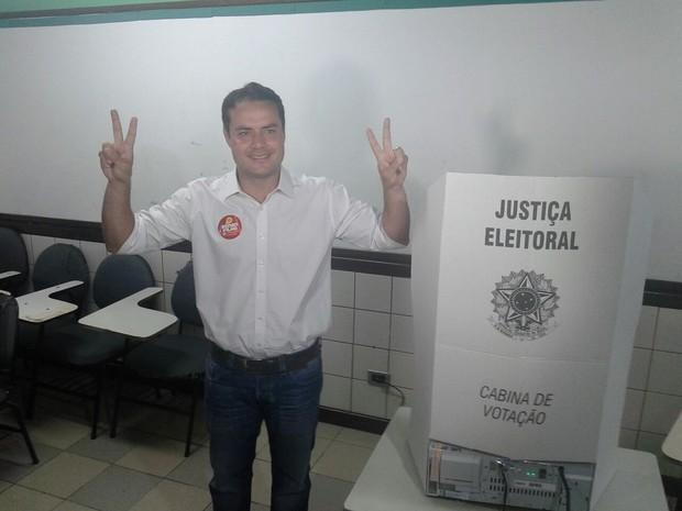 Renan Filho se diz confiante e acredita que fez uma eleição limpa (Foto: Waldson Costa/G1)