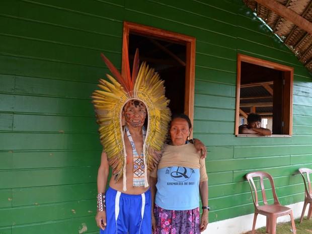 Índios recebem casas no interior do Acre (Foto: Francisco Rocha/G1)