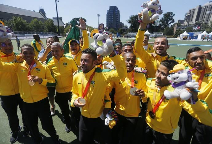 Brasil campeão parapan toronto futebol de 7 (Foto: Marcelo Regua/MPIX/CPB)