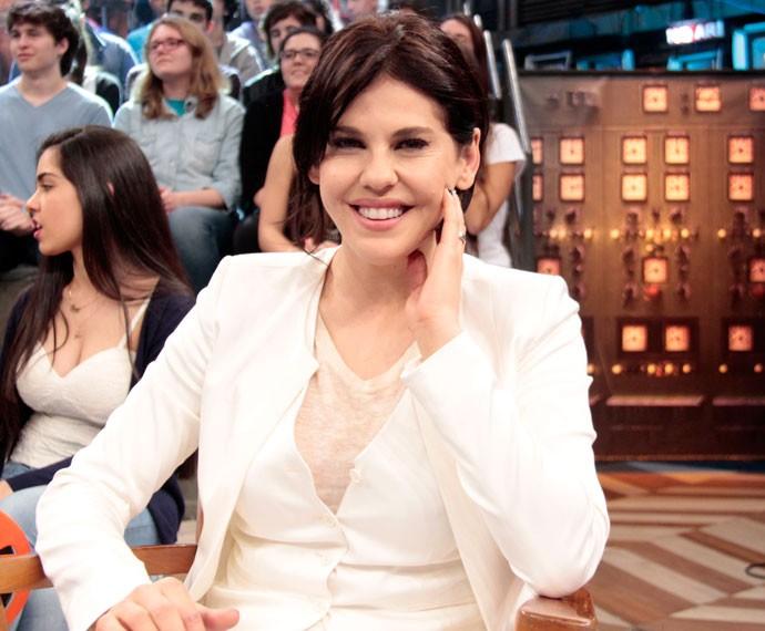 Bárbara Paz participa da gravação do programa 'Altas Horas' (Foto: Marcos Mazini/Gshow)