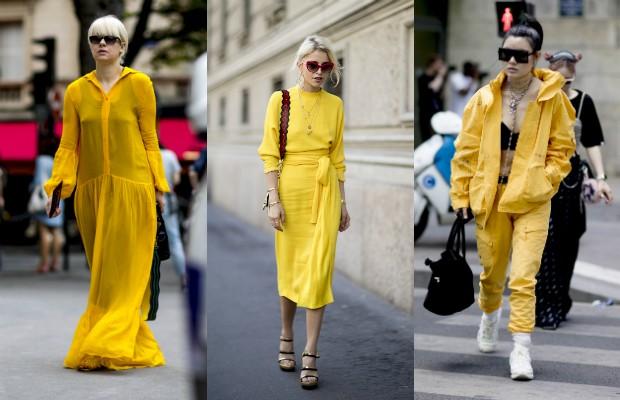 Look total em amarelo primrose (Foto: Imaxtree)
