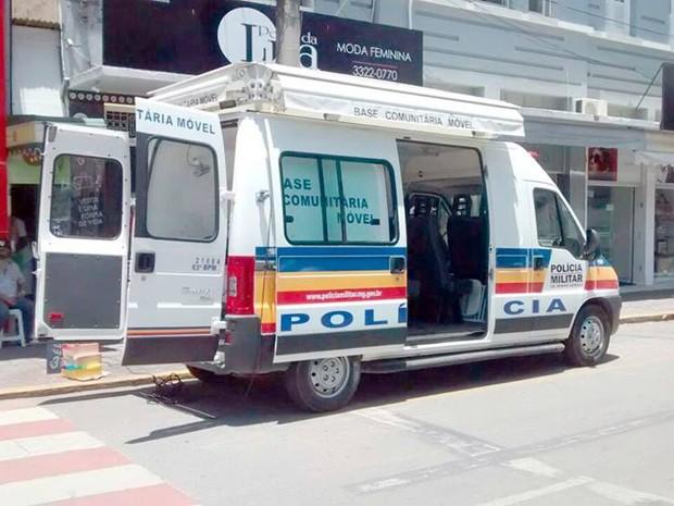 Moradores podem procurar unidade móvel para registrar ocorrências passadas em Formiga (Foto: Glaudson Rodrigues/Divulgação)