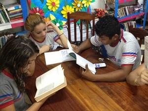 Estudantes do Colégio Amapaense participam do Circuito Pré-Flap (Foto: Flávia Dias/G1)