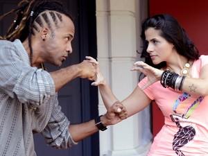 Junior Meirelles e Mira Callado (Foto: The Voice Brasil / TV Globo)