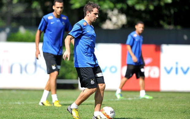 Montillo treino Santos (Foto: Ivan Storti / Site Oficial do Santos)