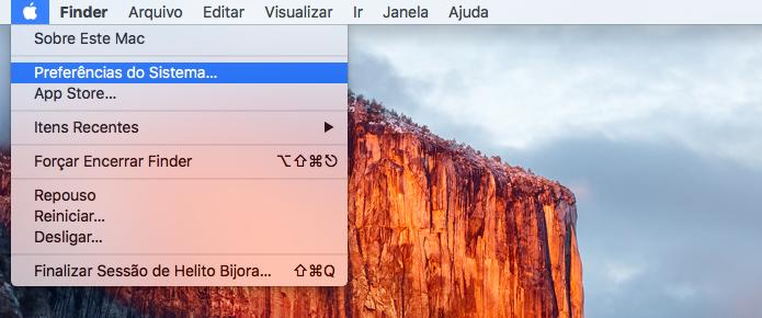 Acesse as configurações do Mac (Foto: Reprodução/Helito Bijora)
