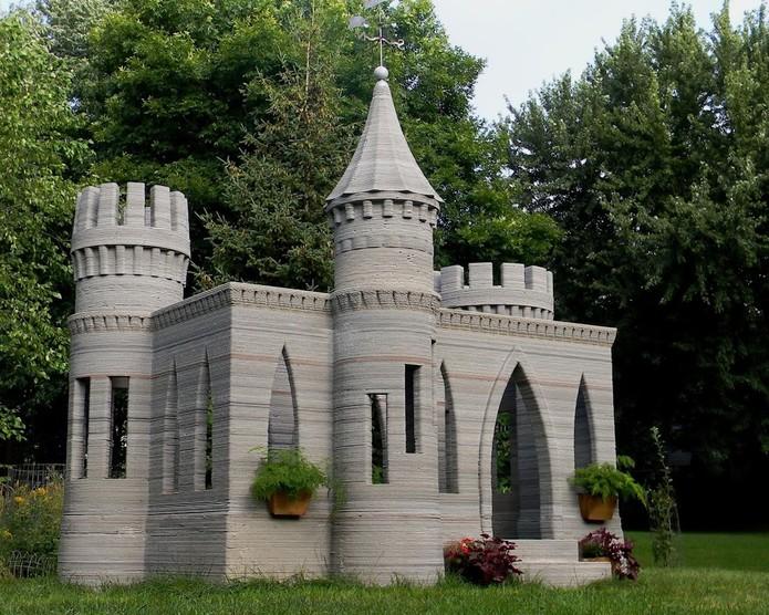 Castelo feito com impressora 3D (Foto: Divulgação/3D Print)