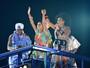 Lázaro Ramos e Taís Araújo sobem ao trio de Daniela Mercury em Salvador