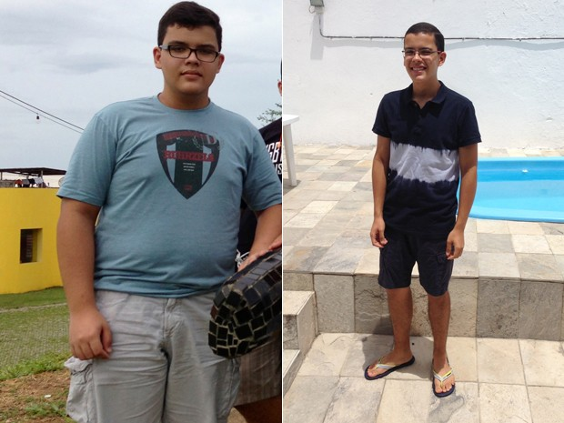 Heitor perdeu mais de 40 kg após se assustar com sangramento no nariz (Foto: Arquivo pessoal/Heitor Marinho da Silva Araújo )
