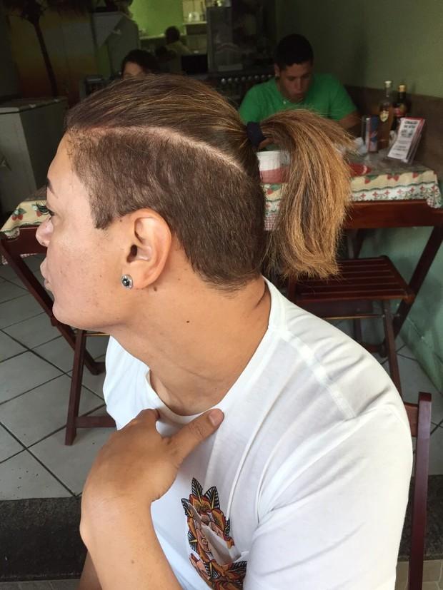David Brazil com seu novo cabelo (Foto: Divulgação)